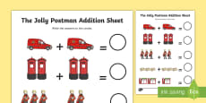 Addition Sheet to Support Teaching on The Jolly Postman