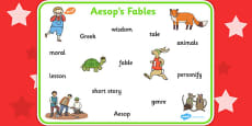 Aesop's Fables Word Mat