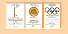 The Olympics Symbols and Their Meanings Display Posters Urdu Translation