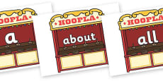 100 High Frequency Words on Hoopla Stands