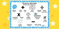 Numeracy Instructions Word Mat EAL Romanian Translation