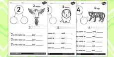 Number Bond Activity Sheets to 10