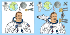 * NEW * Neil Armstrong Cut-Outs