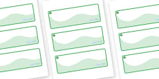 Jade Themed Editable Drawer-Peg-Name Labels (Colourful)