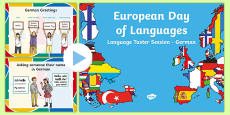 European Day of Languages German Taster Session PowerPoint
