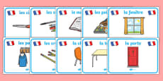 Classroom Objects Display Posters (French)
