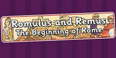 Romulus and Remus The Beginning of Rome Display Banner