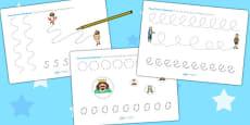 The Emperors New Clothes Pencil Control Sheets