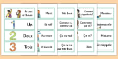 French Year 3 Getting to Know You Word Cards