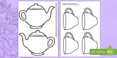 Mother's Day Card Blank Teapot Card Craft English/Portuguese