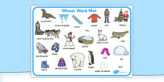 Winter Word Mat EAL Romanian