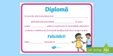 * NEW * Pentru părinții elevilor Diplomă