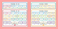 Levelled Guided Reading Questions Mats Chinese Mandarin