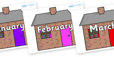 Months of the Year on Brick houses