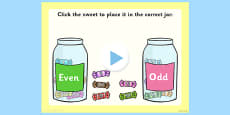 Odd and Even Sorting Activity PowerPoint
