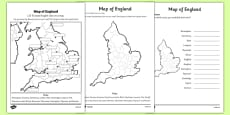 Locating English Cities on a Map Differentiated Activity Sheet