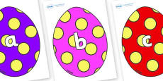 Phase 2 Phonemes on Easter Eggs (Spots)