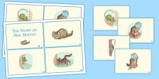 The Story of Miss Moppet Story Sequencing Cards