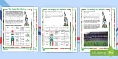KS1 Rugby Six Nations  Differentiated Fact File