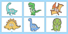 A-Z Alphabet on Dinosaurs