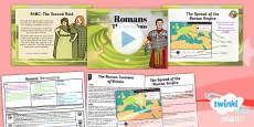 PlanIt - History LKS2 - Romans Lesson 1: The Invasions Lesson Pack