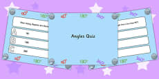 Angles PowerPoint Quiz