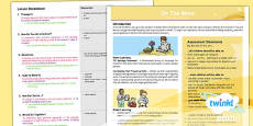 PlanIt - French Year 4 - On the Move Unit Overview