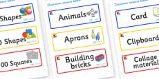 Mondrian Themed Editable Classroom Resource Labels