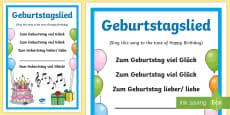Birthday Song Lyrics German