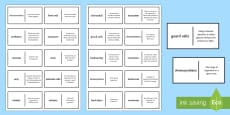 Plants, Photosynthesis and Ecosystems Patience Glossary Activity