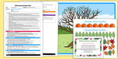 EYFS Apple Tree Seasons Interactive Poster Plan and Resource Pack