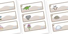 Deer Themed Editable Drawer-Peg-Name Labels