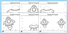 Alien Positional Language Activity Sheets German