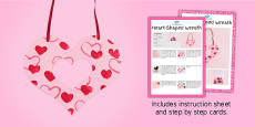 Heart-Shaped Wreath Craft Instructions