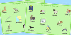 Two Syllable 'BL' Word Mats
