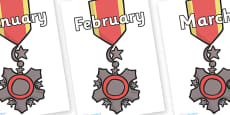 Months of the Year on Medal