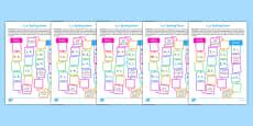 Split Digraph Spelling Board Games Resource Pack