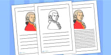Wolfgang Amadeus Mozart Writing Frame