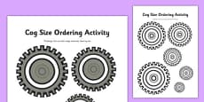 Cog Size Ordering Activity