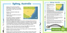 Sydney Australia Fact File