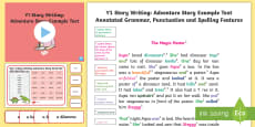 * NEW * Y1 Story Writing: Adventure Model/Example Text