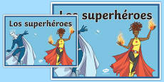 Cartel Los superhéroes