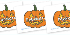 Months of the Year on Jack O'Lanterns