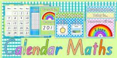 Ready Made Calendar Maths Display Pack Te Reo Māori