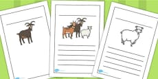 The Three Billy Goats Gruff Writing Frames