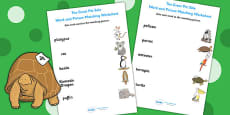 Word and Picture Matching Activity Sheet to Support Teaching on The Great Pet Sale