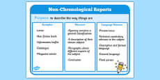 Features of Non Chronological Reports Poster