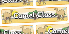 Camel Themed Classroom Display Banner