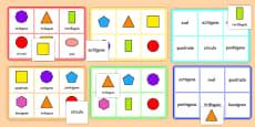 2D Shape Bingo Portuguese