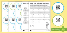 Lower Case and Upper Case Alphabet Code Hunter